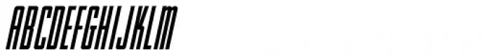 Handmade Headline Oblique JNL Font UPPERCASE