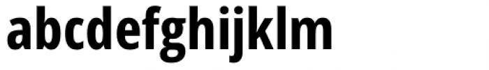 Handset Sans WGL Condensed Bold Font LOWERCASE