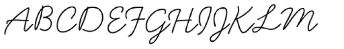 Handsome Light Font UPPERCASE