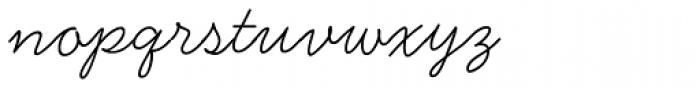 Handsome Light Font LOWERCASE