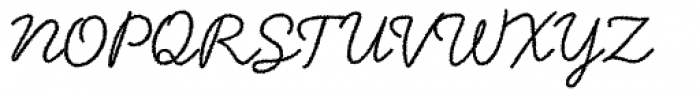 Handsome Rough Font UPPERCASE