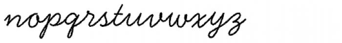 Handsome Rough Font LOWERCASE