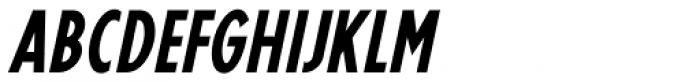 Hanford Oblique JNL Font UPPERCASE