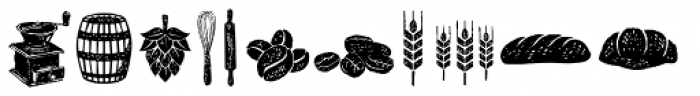 Hanleth Icon Font UPPERCASE