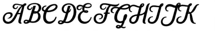 Hanleth Script Rough Font UPPERCASE