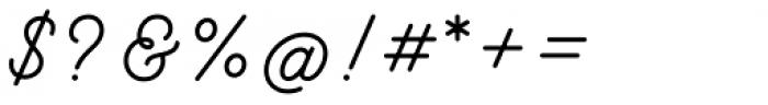 Hanley Pro Monoline Font OTHER CHARS