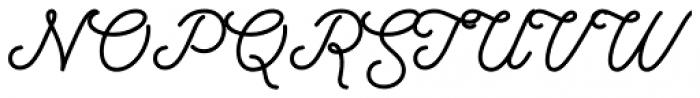 Hanley Pro Monoline Font UPPERCASE