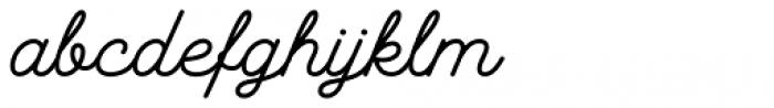 Hanley Pro Monoline Font LOWERCASE