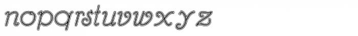Hannover Lined Font LOWERCASE