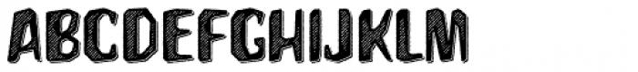 Hanscum Hatch 3D Font UPPERCASE