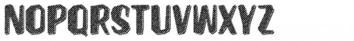 Hanscum Line 3D Font UPPERCASE