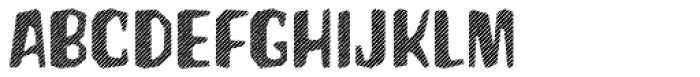 Hanscum Line Font LOWERCASE