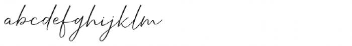 Hanthem Script Regular Font LOWERCASE