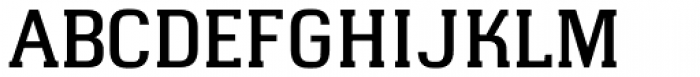 Hapna Slab Serif DemiBold Font UPPERCASE