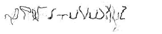 Happy Brain Creepy Thalamus Font UPPERCASE