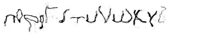 Happy Brain Creepy Thalamus Font LOWERCASE