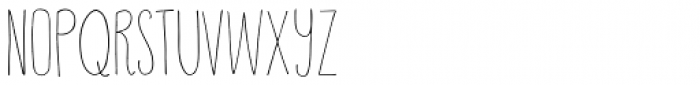 Happy Cloud Light Font UPPERCASE