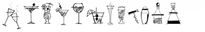 Happy Hour Doodles Font UPPERCASE