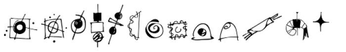 Happy Hour Doodles Font LOWERCASE