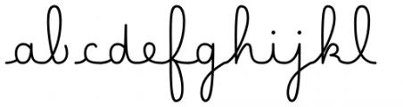 Happy Reader Medium Bold Font LOWERCASE
