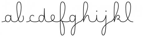Happy Reader Medium Regular Font LOWERCASE