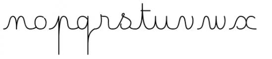 Happy Reader Narrow Regular Font LOWERCASE