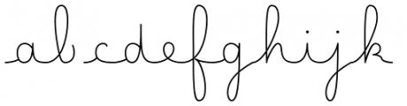 Happy Reader Wide Regular Font LOWERCASE