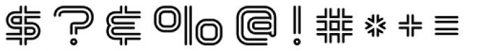 Hardliner Bi Line AOE Font OTHER CHARS