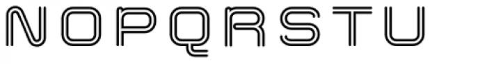 Hardliner Bi Line AOE Font UPPERCASE