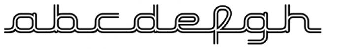 Hardliner Bi Line AOE Font LOWERCASE