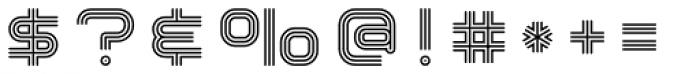 Hardliner Tri Line AOE Font OTHER CHARS