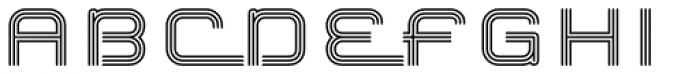 Hardliner Tri Line AOE Font UPPERCASE