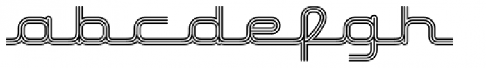 Hardliner Tri Line AOE Font LOWERCASE