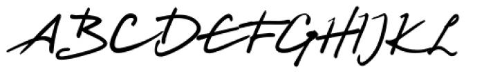 Harico Handwriting Pro Font UPPERCASE