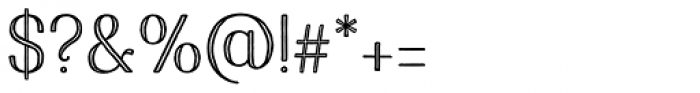 Harman Elegant Inline Font OTHER CHARS