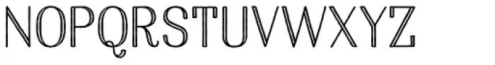 Harman Elegant Inline Font UPPERCASE
