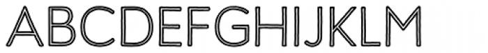 Harman Retro Inline Font UPPERCASE