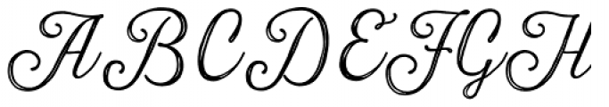 Harman Script Inline Font UPPERCASE