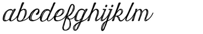 Harman Script Inline Font LOWERCASE