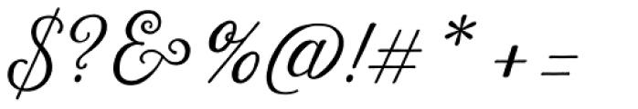 Harman Script Font OTHER CHARS