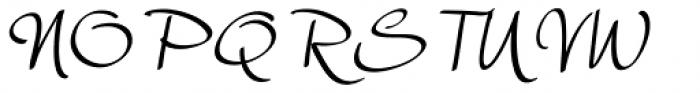 Harmona Harmona Script Slanted Font UPPERCASE