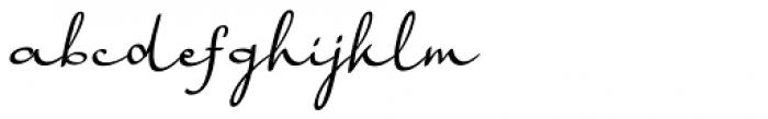Harmona Harmona Script Slanted Font LOWERCASE