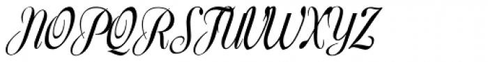 Harpsichord Font UPPERCASE
