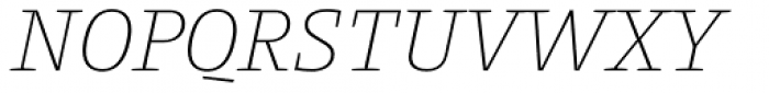Harrison Serif Pro Extra Light Italic Font UPPERCASE