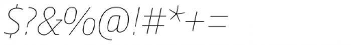 Harrison Serif Pro Thin Italic Font OTHER CHARS