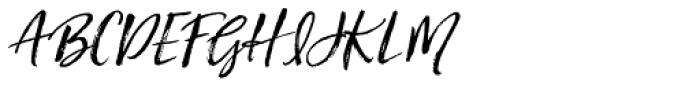 Hartley Slanted Font UPPERCASE