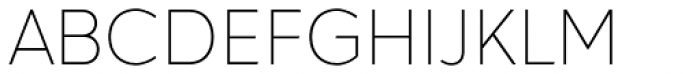 Hartwell Thin Font UPPERCASE