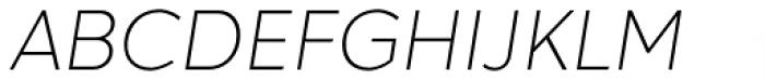 Hartwell Ultralight Italic Font UPPERCASE