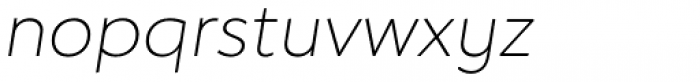 Hartwell Ultralight Italic Font LOWERCASE