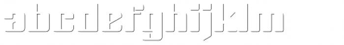 Haru B Shadow Font LOWERCASE